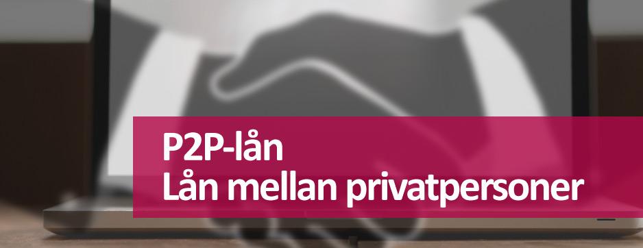 P2P-lån mellan privatpersoner